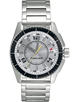 Fastrack Black Magic Analog Watch For Men Silver 3089SM02