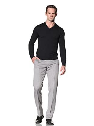Calvin Klein Collection Men's Beaton V-Neck Wool Sweater (Navy)