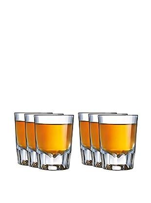 Arc International Set of 6 Barcraft Fluted 2-Oz. Shot Glasses