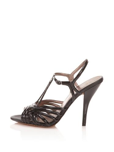 Joan & David Collection Women's Mimo Ankle-Strap Sandal (Black Patent)
