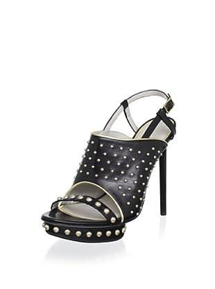 Jason Wu Women's Marlene Platform Slingback Sandal (Black/Gold)