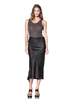 Ann Demeulemeester Women's Satin Button Skirt (Black)