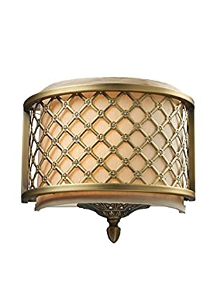 Artistic Lighting Wall Sconce, Brushed Antique Brass