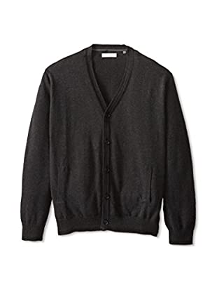Alex Cannon Men's Buttoned Cardigan (Charcoal)