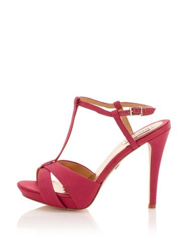 Badgley Mischka Women's Indigo II T-Strap Sandal (Rose)