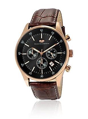 Rhodenwald & Söhne Reloj con movimiento cuarzo japonés 10010073 Marrón 45 mm