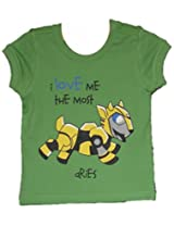 Anti-Cute Baby Girls Aries Shirt (ARI/CN/GR/18-24_Green)
