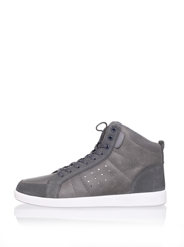 Clae Men's Russell High-Top Sneaker (Charcoal Leather)