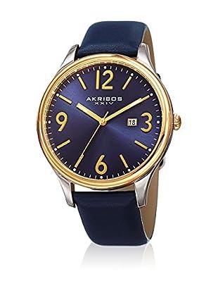 Akribos XXIV Uhr mit japanischem Quarzuhrwerk  blau 44 mm