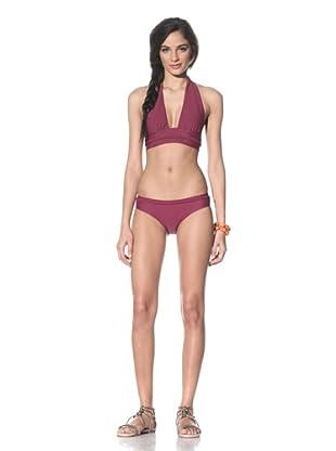 Tikka Women's String Bikini Top & Bottoms (Plum)