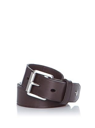 Dockers Cinturón Supple de Cuero Slim (Marrón)