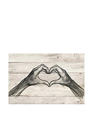 Surdic Panel de Madera Love Multicolor