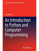 An Introduction to Python and Computer Programming (Lecture Notes in Electrical Engineering)