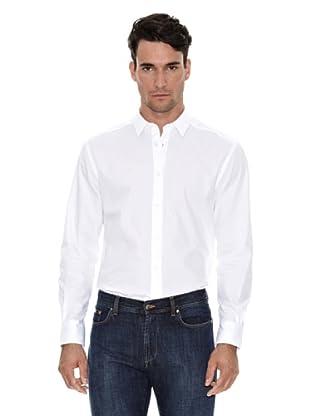 Versace Camisa Lisa Vestir (Blanco)