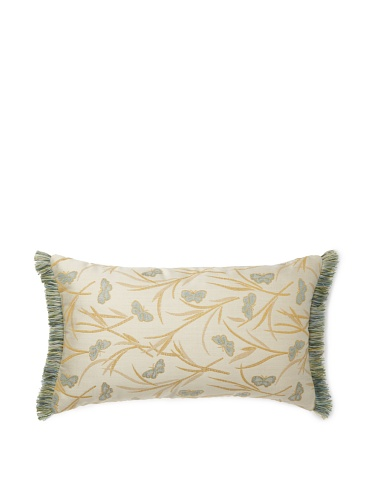 Elsa Blue Butterfly with Fringe Indoor/Outdoor Pillow, 12