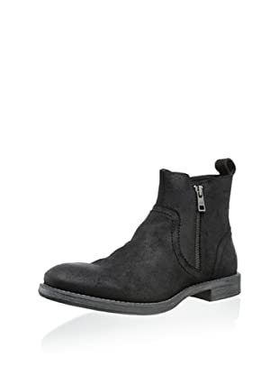 Andrew Marc Men's Parker Zip Ankle Boot (Black)