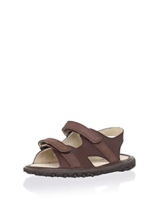 L'Amour Shoes Kid's Leather Sandal (Toddler/Little Kid) (Brown)