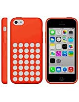 Apple iphone 5C Designer Dotted Hole soft silicon Back Case Cover Orange
