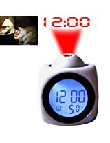 Dealcrox Digital LCD Projection Clock With Alarm - LCD CLOCK
