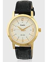 Ti000T10000 Black/White Analog Watch Timex