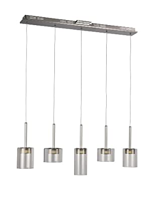 Bel Air Lighting LED Spot 5-Light-Drop-Pendant, Polished Chrome