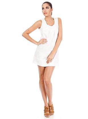 Cortefiel Vestido Verano (Blanco)