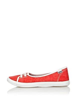 Mtng Zapatillas Bailarinas Deportivas (Rojo)