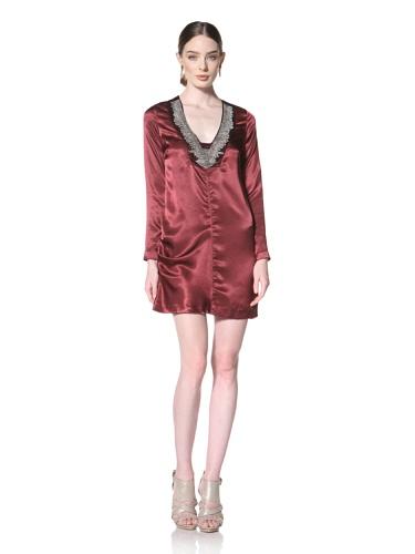 Twinkle By Wenlan Women's Brave Beauty Dress (Garnet/Silver Beading)