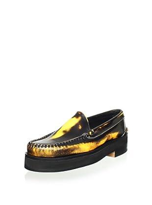 Alejandro Ingelmo Men's Camden Leather Venetian Loafer (Orange)