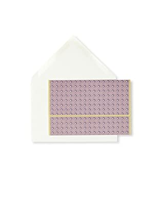 Vera Wang 25-Piece Dot Diamond Notecard Set