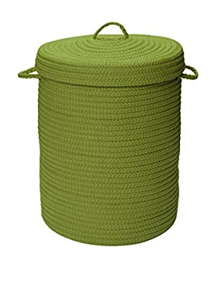Colonial Mills Simply Home Covered Storage Hamper, Bright Green