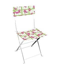 Esschert Design Teatowel and Flower Print Bistro Chair