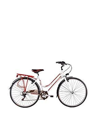 Schiano Cicli Bicicleta 28 Trekking 3.0 06V. Blanco / Rojo