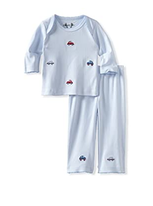 Margery Ellen Baby Pima Cotton Tee Set with Embroidery (Cars)