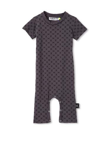 NUNUNU Baby Checkered Play Suit (Dark Grey)