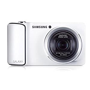 Samsung GC100 Galaxy 16.3MP Point-and-Shoot Digital Camera with 21x Optical Zoom (White)