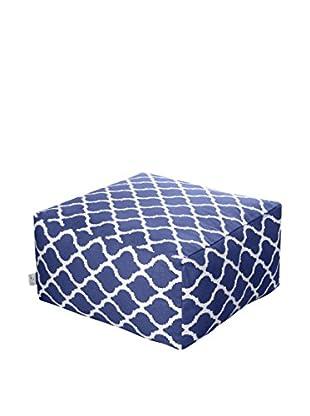 Glam Home Pouf Soraya blau/weiß
