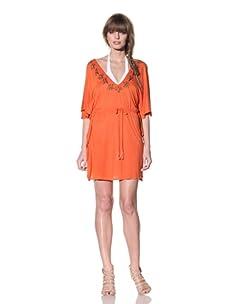 Letarte Women's Jersey Poncho Coverup (Orange)