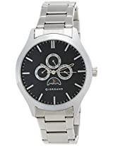 Giordano Analog Black Dial Men's Watch - 60076 Black