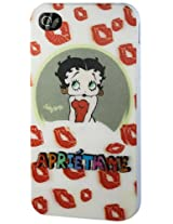 Apple 3D Polymer Case for iPhone 4G - Retail Packaging - Light White/Red