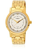Ti000T10800 Golden/White Analog Watch