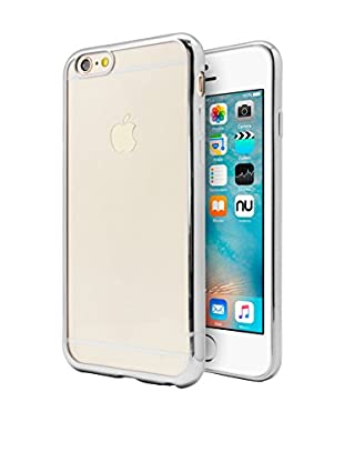 NUEBOO Hülle TPU Gel iPhone 6/6S Color Frame grau