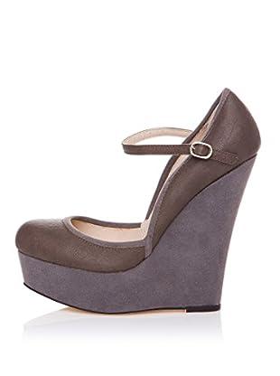 Furiezza Zapatos de Cuña Hebilla (Gris)