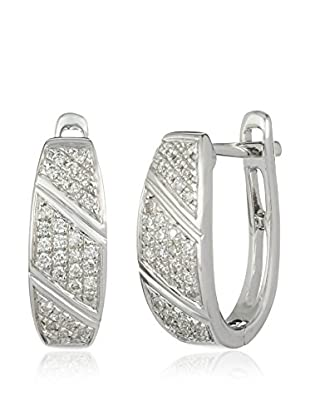 Bentelli Pendientes 9K Gold 0.17Ct Diamonds Oro Blanco