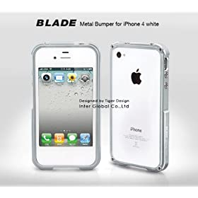 【iPhone4S/4対応】iPhone case BLADE iPhone4 ホワイトver. Silver