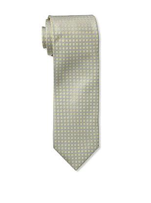 Massimo Bizzocchi Men's Micro Pattern Box Tie, Grey