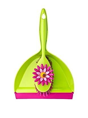 VIGAR Cepillo De Mano 2 Piezas Flower Power Rosa / Verde