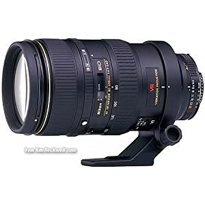 Nikon AF VR Zoom-Nikkor 80-400mm F/4.5-5.6D ED Telephoto Zoom Lens for Nikon DSLR Camera