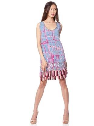 Custo Vestido Kumiko (azul / malva)