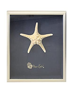 Theresa Seidel Shadow Box with Spike Starfish, White/Blue/Silver
